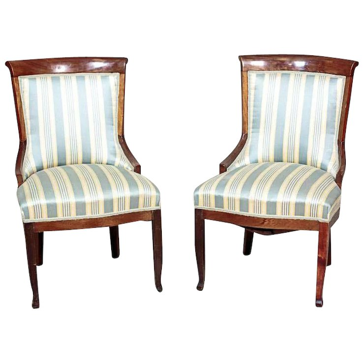 Two Biedermeier Chairs, Ca. 1830