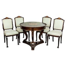 Stylized, Round Table with Chairs