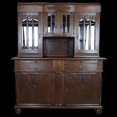 Oak, Signed Cupboard from the Interwar Period