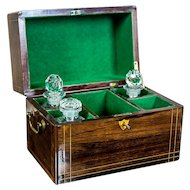 19th-Century Liqueur Set with a Storage Box