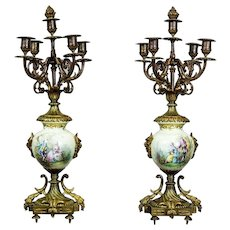 Two Candelabra from the 2nd Half of the 19th Century