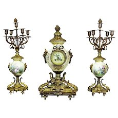 Clock with Candelabra from the 2nd Half of the 19th Century