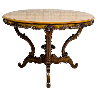 19th-Century Round Louis Philippe Table
