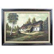 Rural Landscape/Oil on Canvas