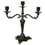Brass, Three-Arm Candlestick