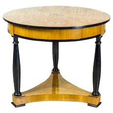 Biedermeier Table Veneered with Maplewood, Circa 1860