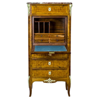 19th-Century French Secretary Desk in the Louis XV Type