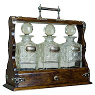 English Liquor Decanters in a Case, Circa 1900