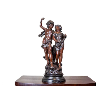 Figurine of a Young Man with a Girl from the 1920s