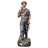 Polychromed Figurine of a Miner from the Years 1918-1938