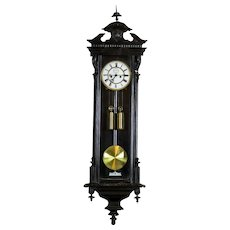19th-Century Eclectic Wall Clock