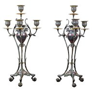 Pair of Candlesticks from the Turn of the 19th and 20th Centuries