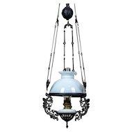 19th-Century Hanging Kerosene Lamp