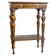 19th-Century Eclectic Oak Side Table