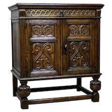 Carved Oak Cabinet, Circa 1918-1938