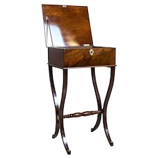 19th-Century Biedermeier Sewing Table