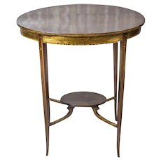 19th-Century Oval Side Table