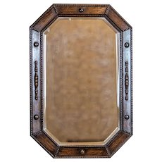 Mirror from the Interwar Period in an Oak Frame