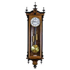 19th-Century Regulator Wall Clock