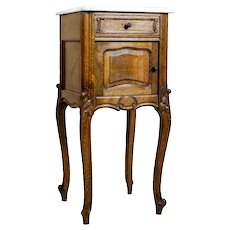 Nightstand from the Interwar Period with Marble