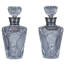 Pair of 19th-Century Crystal Decanters