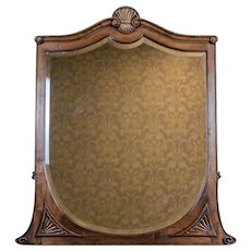 20th-Century Crystal Mirror in a Wooden Frame