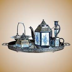 20th-Century Silver-Plated Tea Set