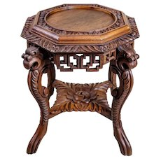 19th-Century Chinese Side Table-Flower Stand