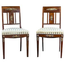 Pair of 19th-Century Empire Chairs