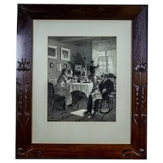 Big Print in an Art Nouveau Frame, Circa 1900-1915
