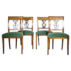Four Mahogany Chairs, Circa 1880