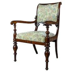 19th-Century Upholstered Biedermeier Armchair