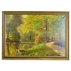 """Forestal Landscape,"" Oil Painting -- 1930/40"