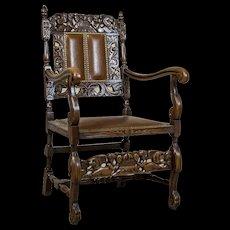 Carved Armchair-Throne, Circa 1940