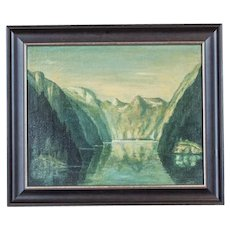 Landscape with Lake Königssee, Circa 1930