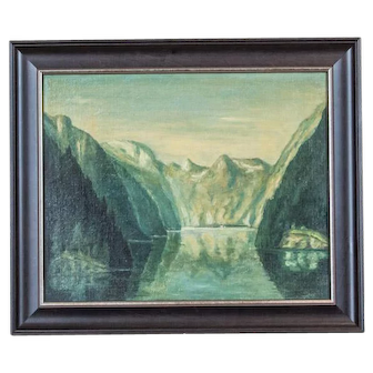 Landscape with Lake Königssee, Circa 1930