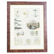 20th-Century Colorful Print in a Frame – Anchors and More