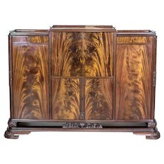20th-Century Cupboard/Wet Bar Stylized as Art Deco