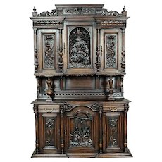 Representative, Richly Carved Cupboard approx. 1910/1920