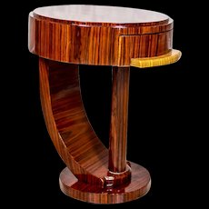 Round, Small Table in the Art Deco Style