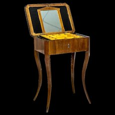 Biedermeier Sewing Table/A Classic of the Style -- 1860