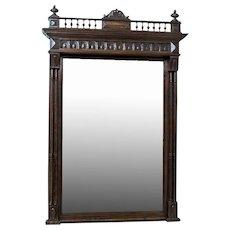 Pier Glass in an Eclectic, Oak Frame