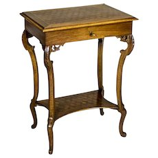 Oak Sewing Table, Circa 1900