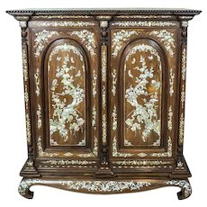Oriental Cabinet with Nacre, Circa the Turn of the 19th and 20th Centuries