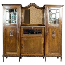 Oak Art Nouveau Cupboard
