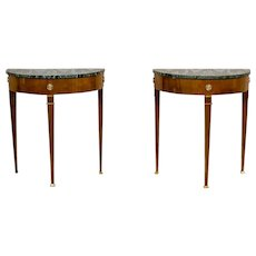 Two Neoclassicistic Wall Tables/Console Tables, Circa the 19th Century