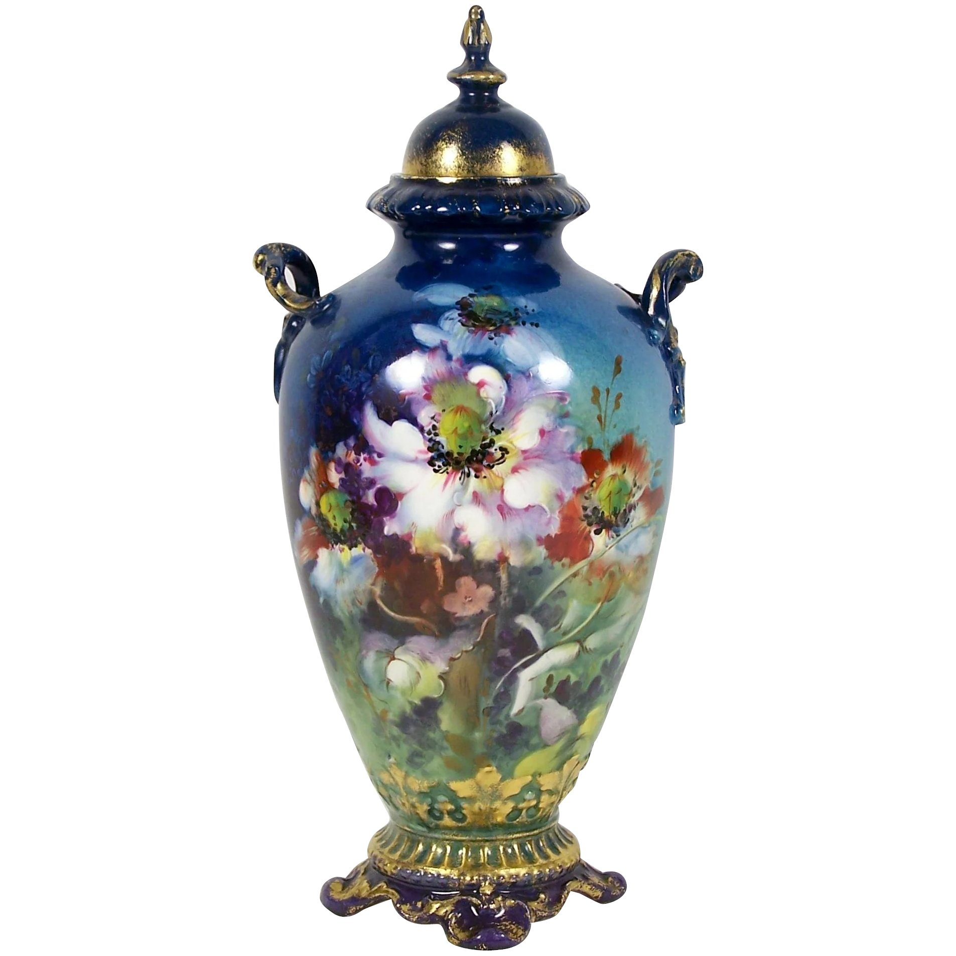 Antique vintage royal bonn vase urn w lid 9 34 hand painted click to expand reviewsmspy