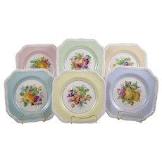 Johnson Brothers California Plates 10 Square Dessert Salad Luncheon Fruits