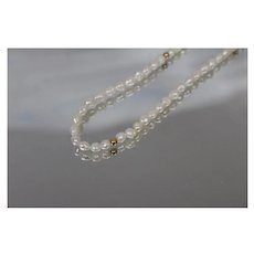 """14k - 18"""" - Summer Beach Themed Fresh Water Pearl Strand with Gold Beads Necklace in Yellow Gold"""