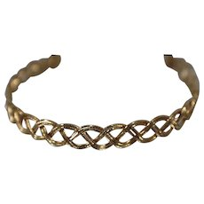 """14k - 8"""" - Fancy Intertwined Rounded Bead Link Bracelet in Yellow Gold"""